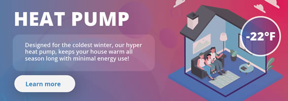Hyper Heat Pump (Up to -22F)